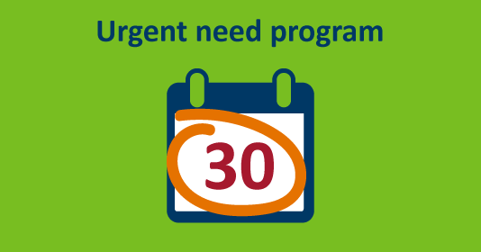 Click to learn more about the urgent need program